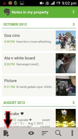 Catat Dan Simpan Semua Dalam Android Dengan Aplikasi Evernote