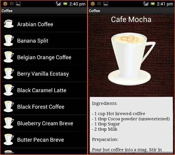 Meracik Berbagai Kopi Dengan Android