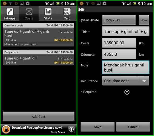 Melihat Tingkat Pemakaian Bahan Bakar Dengan Android