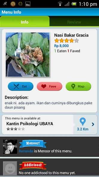 Cari Menu Makanan Kesukaan Dengan Android