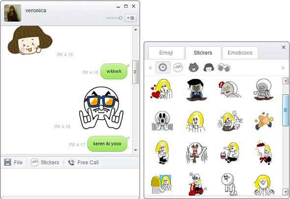 Chatting Penuh Gaya Di Komputer Menggunakan Aplikasi Line