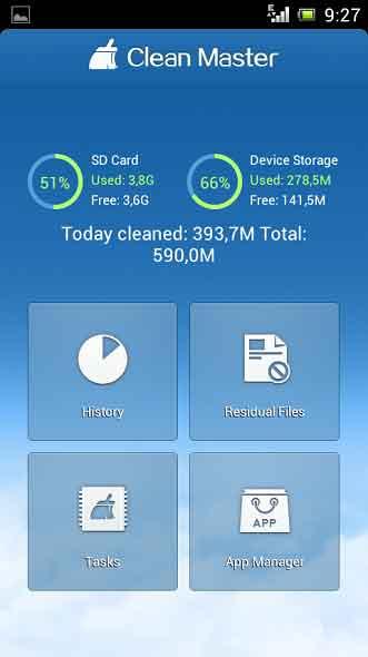 Bersihkan Memori Smartphone Dengan Cepat Menggunakan Clean Master