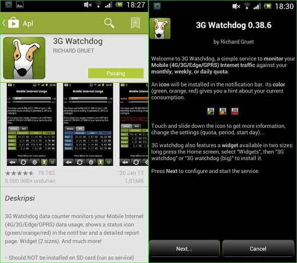 3G Watchdog, Memantau Pemakaian Kuota Internet Anda